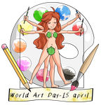 15 April, World art day! by Fufunha