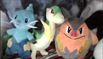Unova Starters second stage plushies by SusanLucarioFan16