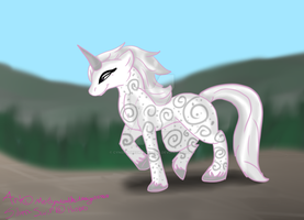 MLP: Silver Swirl by Cynderthedragon5768