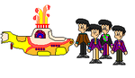 Yellow Submarine: The Beatles by NatPal