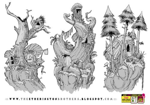 3 Tree House Concepts by STUDIOBLINKTWICE