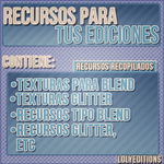 Pack de recursos para tus ediciones! by Lolyeditiones