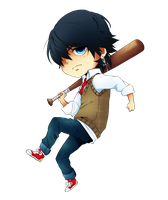 Chibi Nate by Fushio Colored by misakinight