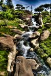 hdr japanese waterfall one by neumpawsha