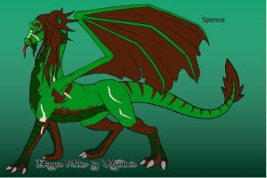 Spence the Dragoness by trainman666