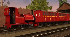 Richmas Day 1: Red Skarloey Coaches by FfarquharEngine