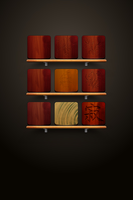 Overview of my wooden icons on springboard by iGeriya