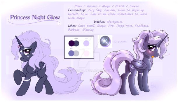 ...OC Princess Night Glow Reference... by Joakaha