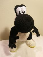 Crocheted Black Yoshi 2 by aphid777