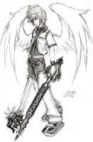 Winged Roxas by GrayPaladin