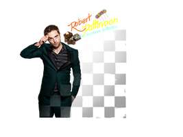 Robert Pattinson texto png by Carol05