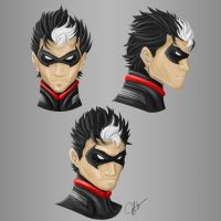 Red Hood Unmasked - Jason Todd Concept Art by joeybowsergraphics