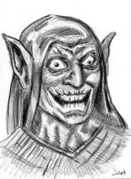 Green-Goblin Sketch Card ACEO by Stungeon