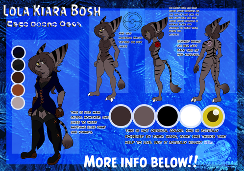 Lola Kiara Bosh ref sheet (INFO BELOW) by JinxytheLombax