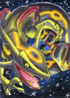Rayquaza's Twister by Porcubird