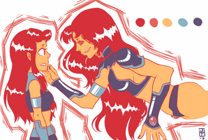 Starfire and Starfire by michfranc