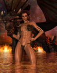 Elven Lady Of The Inferno by Afina79