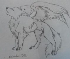 flying wolf by pandababy28