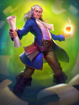 Isaac Newton for STEM: Epic Heroes. by tubik-kraski