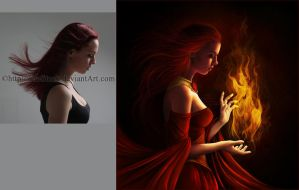 Melisandre (before and after) by Trisste