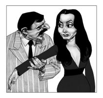 Gomez and Morticia by lllatthias
