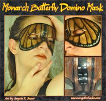 Monarch Butterfly Domino Mask by Angelic-Artisan