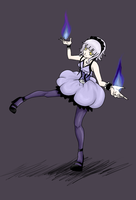 Pkmn - Chandelure Gijinka by NekoRikaChan