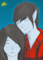 Marshall Lee - Marceline by ZeroReqiem