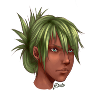 Green Haired Woman by KAZECoyote