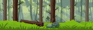 Game forest background by Vadich