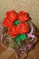 Kawasaki Rose bouquet for my grandma by Kusu-dama