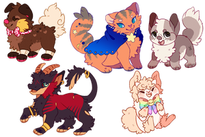 chibis by Fluffily
