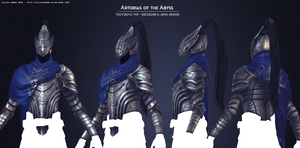 Artorias of the Abyss Texturing WIP by Soilworker06