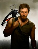 Daryl Dixon Painting Digital by fednan