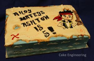 Jake the Pirate Cake by cake-engineering