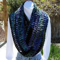 Handmade Infinity Loop Scarf Dark colors by MicheleMade