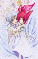Helios and Chibiusa by panza