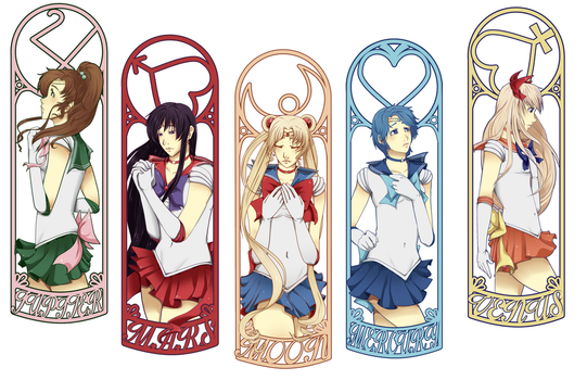 Sailor Moon - Bookmarks by Past-Chaser