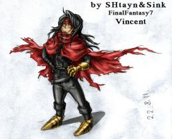 Final Fantasy VII:Vincent by SINKandSHTAYN