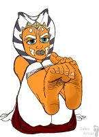 Ahsoka shows her soles by Solesartist