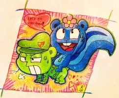 Petunia and Flippy (Remake Ver.) by Jessie-KatCat