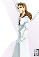Aizen Speed Painting by themnaxs