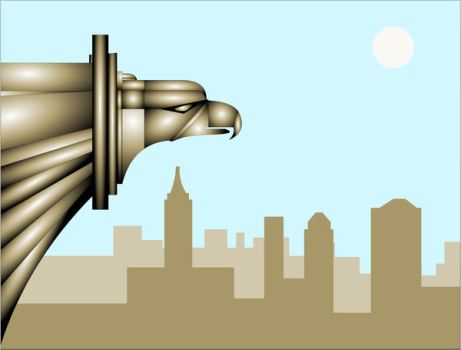 Chrysler Building Eagle Day by Sularias