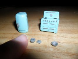 Mini Mini Dollhouse Kitchen Appliances by kayanah