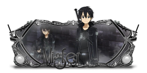 Sign modelada - Kirito (SAO) by kryser