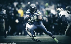 Marshawn Lynch Beast Mode by Sanoinoi