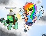 Rainbow Dash+Tank by p-l-u-m-b-u-m