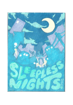 ACEO: Sleepless Nights by DarkyJunks