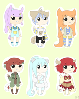 Kemonomimi Adopt Set EACH 50 POINTS {open} by Abis-Adoptables