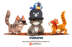 Day 1383. Purrates by Cryptid-Creations